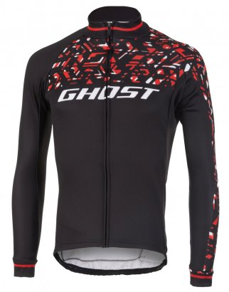 GHOST Factory Racing Jersey Long - Night Black / Riot Red / Star White